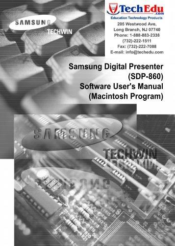 SDP-860 Software Manual - Confluence