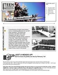 The Arrowhead, December 2012 - Wyman