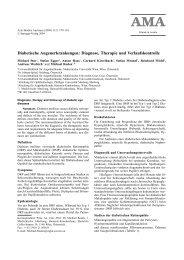 Diabetische Augenerkrankungen: Diagnose, Therapie und ...