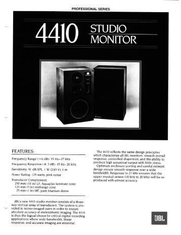 4410 - JBL Professional