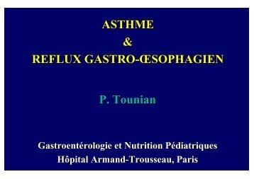 Asthme & Reflux gastro-oesophagien