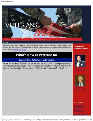 July 2012 - Veterans Inc