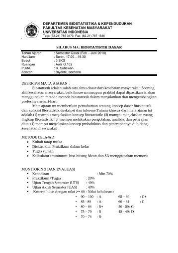 biostatistik dasar - Blog Staff UI - Universitas Indonesia