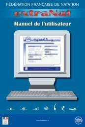Manuel de l'utilisateur d'Extranat - Comité Ile de France - Fédération ...