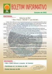 Boletim Informativo Outubro de 2002 - CNA