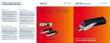 iCON 322 Wireless Internet Connectivity Tri-band HSUPA ... - Option