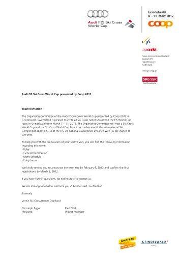 Audi FIS Ski Cross World Cup presented by Coop 2012 Team ...