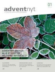 Adventnyt 2012-01.indd - Syvende Dags Adventistkirken