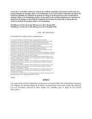 Arrt du 17 avril 2001 relatif aux examens du certificat d'aptitude aux ...