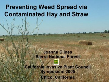 Preventing weed spread via contaminated hay and straw - Cal-IPC