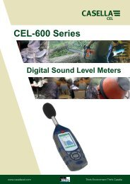 CEL-600 Series Digital Sound Level Meters - Thermo Fisher