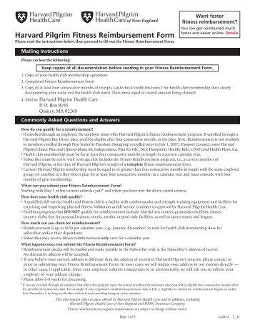 cross blue shield ma fitness reimbursement form