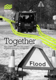 Make a difference with a coordinated response to ... - Met Office