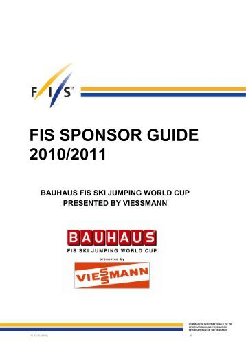 FIS SPONSOR GUIDE 2010/2011 - International Ski Federation