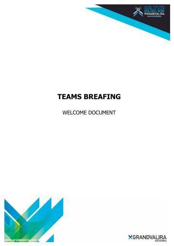 teams breafing - International Ski Federation
