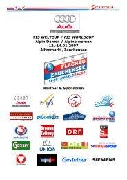 14.01.2007 Altenmarkt/Zauchensee Partner & Sponsoren - Fis