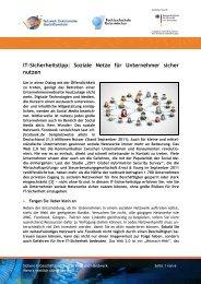 Soziale Netze für Unternehmer sicher nutzen - BIEG Hessen