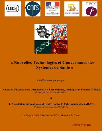 « Nouvelles Technologies et Gouvernance des Systèmes de Santé »