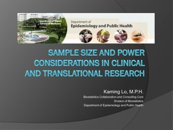 Power and Sample Size - Division of Biostatistics