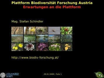Erwartungen der österreichischen BiodiversitätsforscherInnen.