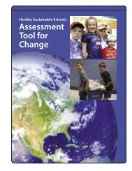 Healthy Sustainable Schools: Guide for Change & Assessment Tool
