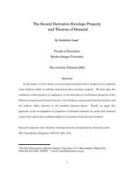 The Second Derivative Envelope Property and Theories of Demand