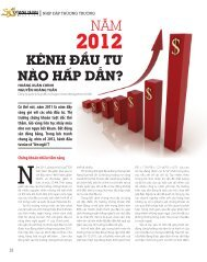 Doanh Nhân Đất Việt, tháng 1 2012 - Saigon Asset Management