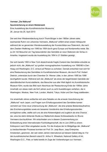 """Vermeer """"Die Malkunst"""" Spurensicherung an ... - Briefmarken Gilg"""