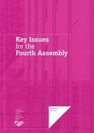 Key Issues for the Fourth Assembly - National Assembly for Wales