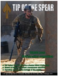 February 2011.qxd - United States Special Operations Command