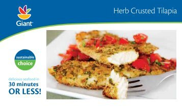Herb Crusted Tilapia - Giant