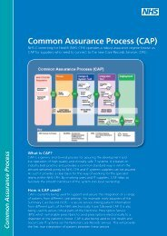 Common Assurance Process (CAP) - NHS Connecting for Health