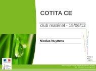 Présentation de la CoTITA CE et du club matériels