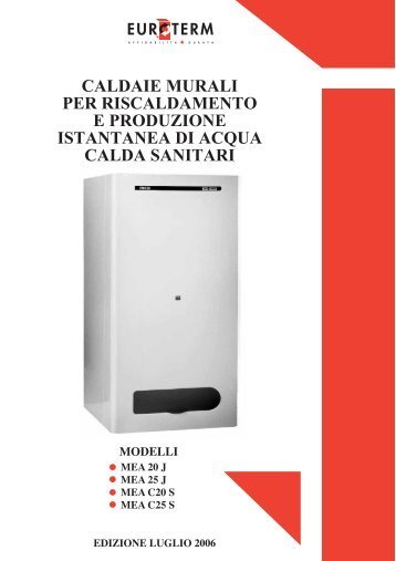 Baxi slim i certened for Caldaia euroterm manuale