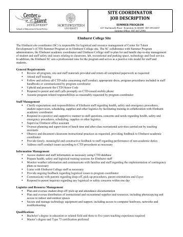 job description – sales coordinator   wcib intranetsite coordinator job description   center for talent development