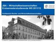 JBA - Fachbereich Rechts- und Wirtschaftswissenschaften