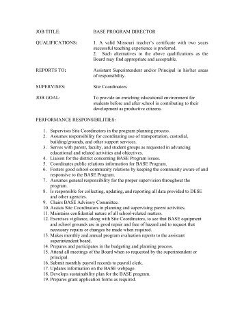 qualifications for job