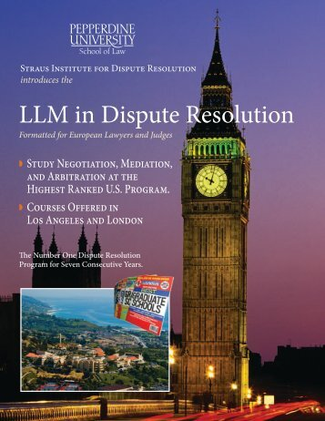 LLM in Dispute Resolution - Pepperdine University School of Law
