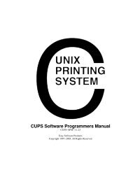 CUPS Software Programmers Manual - Open Source - Apple