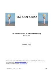 26k-User-Guide - ISO 26000, an estimation