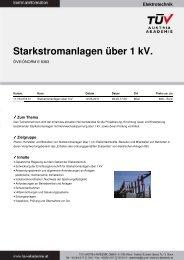 104.018 Starkstromanlagen über 1 kV - TÜV Austria Akademie