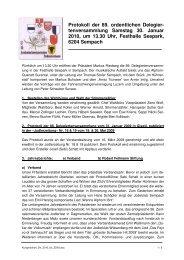 Kurzprotokoll der 89. ordentlichen Delegiertenversammlung - ZSJV