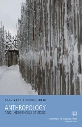 ANTHROPOLOGY - University of Toronto Press Publishing