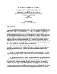 model project cooperation agreement for single-purpose - U.S. Army ...