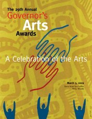 Governor's - Nevada Arts Council - Nevada Department of Cultural ...