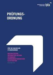 PRÜFUNGS- ORDNUNG - btk