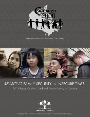 2011 Report Card on Child and Family Poverty - Campaign 2000