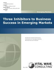 Three Inhibitors to Business Success in Emerging Markets