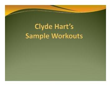 Clyde Hart S Sample Workouts Ustfccca