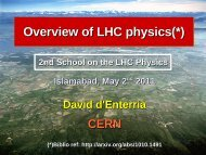 Introduction to LHC physics - David d'Enterria CERN Home Page ...